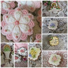 cookies decorate with flowers