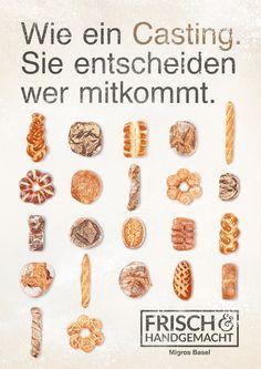Arbeit für die Hausbäckereien der Migros in der Nordwestschweiz #Migros #Frisch Baker Man, Bread Baking, Breakfast, Food, Fresh, Baking, Morning Coffee, Eten, Meals