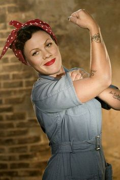 "P!nk as Rosie the Riveter - ""We Can Do It!"""