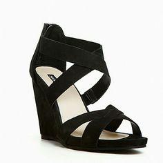 New Black Shoemint Elloise Wedges Size 6