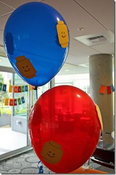 Lego Birthday Party - Balloons
