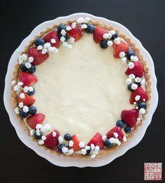 Berry Tart with Cheesecake Pastry Cream - Dessert First