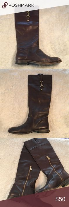 Coach Martta Boots Genuine leather riding boots. Have had for years and have some wear, but still have a second life in them! They would be good as new if resoled. Coach Shoes Winter & Rain Boots