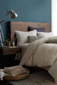 Joanna Gaines' Favorite Paint Colors - HGTV Fixer Upper Paint Colors bedroom paint colors Joanna Gaines Reveals Her 5 Favorite Paint Colors Teal Bedroom, Teal Walls, Bedroom Paint Colors Master, Elegant Bedroom, Home Bedroom, Home Bedroom Design, Small Bedroom, Master Bedroom Paint, Blue Master Bedroom