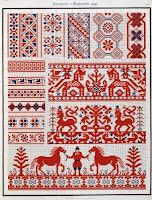 Free Easy Cross Pattern Maker PCStitch Charts Free Historic Old Pattern Books: 1877 ? (Collected Velikorusskih & Malorossiyskih patterns for embroidery) Cross Stitch Borders, Cross Stitch Charts, Cross Stitch Designs, Cross Stitching, Cross Stitch Patterns, Russian Embroidery, Folk Embroidery, Cross Stitch Embroidery, Embroidery Patterns