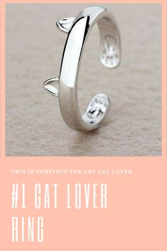 This is the purrfect cat lovers ring and is a must for your jewelry collection and cat jewelry collection. Dog Jewelry, Animal Jewelry, Cat Lover Gifts, Cat Lovers, Personalized Phone Cases, Cat Products, Dog Necklace, Cat Ring, Stylish Rings