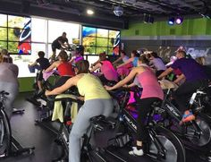 Hello #IndoorCycling lovers. Many enjoy the Real Ryder bikes. You should try a #spinning class with these bikes.