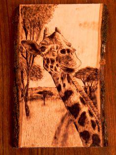 BrandonWB  Giraffe Wood burning