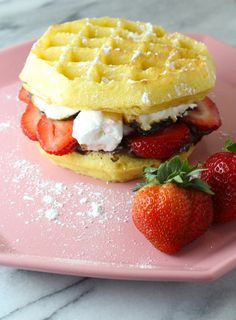 A Delish Strawberry S'mores Waffle Sandwich Recipe! — The Queen of Swag!