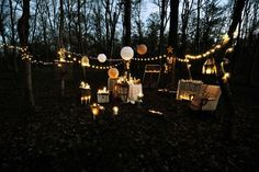 Backyard soiree: perfect for popping THE question. :)