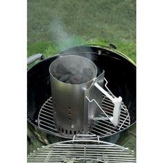 Charcoal-Chimney-Starter-Rapidfire-Weber-Aluminium-Steel-Grill-Bbq-Coal-Lighter