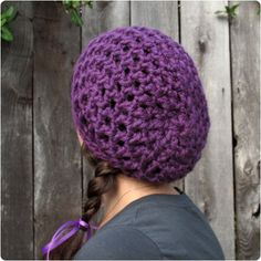 Free Crochet Pattern: Waffle Cone Slouchy Hat by Gleeful Things, via Flickr