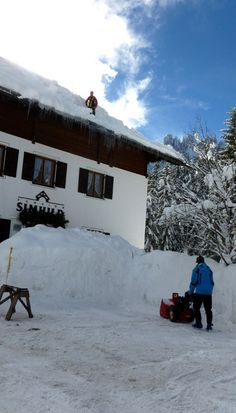 a lot of snow in winter 2013/14 - Simhild Karersee Carezza Dolomiten