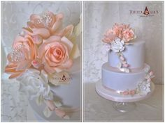 Romantinc wedding cake in pastel colours with sugar flowers /roses, poppy, hortensias, suculents and garden roses). 50th Wedding Anniversary Cakes, Sugar Flowers, Cake Flowers, Flower Cakes, Huge Cake, Wedding Cake Inspiration, Daily Inspiration, Wedding Ideas, 21st Cake