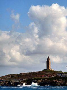 Faro la torre de Hércules en la Coruña