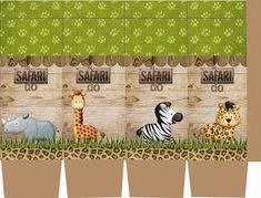 Fazendo a Propria Festa: KIT DE PERSONALIZADOS TEMA SAFARI Deco Jungle, Jungle Party, Safari Party, Jungle Safari, Safari Theme Birthday, Birthday Party Themes, Teddy Pictures, Animal Party, Baby Boy Shower