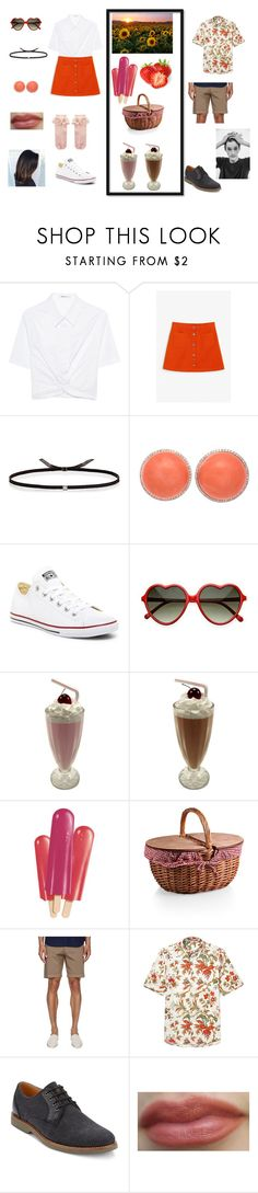 """Žofka's Date"" by icy-white on Polyvore featuring T By Alexander Wang, Monki, Ileana Makri, Converse, Picnic Time, Theory, G.H. Bass & Co. and Monsoon"