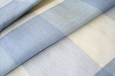 Four-inch check, soft blue cotton buffalo check fabric, Tonic Living - $22.95
