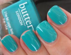Butter London - Slapper- my nails today Great Nails, Cool Nail Art, Love Nails, How To Do Nails, Fun Nails, Butter London Slapper, Butter London Nail Polish, London Nails, Manicure And Pedicure