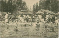 """In the late 19th century and in some places up to the 1950s, several European countries and the United States exhibited colonial subjects """"in their natural habitats"""" either in fair grounds or in zoos. Here is a """"Senegalese village"""" in Paris. Photo credit: Schomburg Center for Research on Black Culture"""