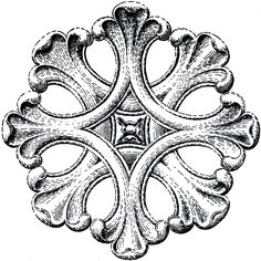 Architectural Rosette Ornament Image! - The Graphics Fairy