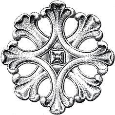 Architectural Rosette Ornament Image! - The Graphics Fairy
