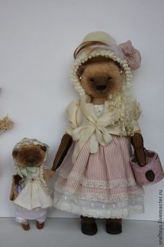 Teddy Bears handmade.  MISA Lucy with her daughter.  Olga Orel.  Shop Online Fair Masters.  Olga eagle Sizes 37 and 18 cm