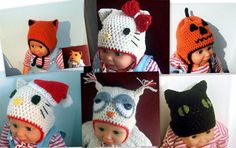 SALE Newborn Hats CROCHET PATTERN 6 for 399 by PatternStudio1, $3.99