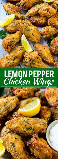Lemon Pepper Chicken Wings | Fried Chicken Wings | Lemon Pepper Wings