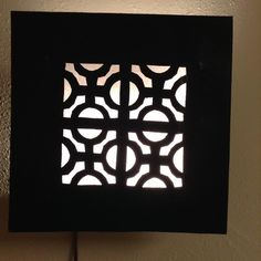 Moroccan Rustic Black  Wrought Iron Tin Wall Light Sconce Square #Handmade #Moroccan