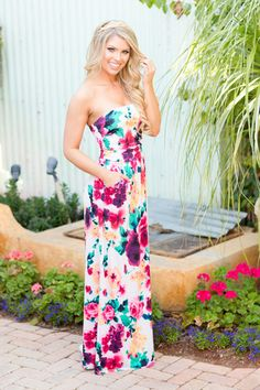 """****Use code """"REPLAUREN"""" for 10% off + Free Shipping!!!!*** Candy Shop Maxi Dress - Spring Bouquet"""