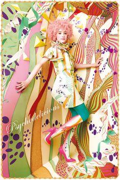"""MAJOLICA MAJORCA 2012 Summer """"Psychedelicious""""  Visual / マジョリカ マジョルカ 2012年 夏 """"Psychedelicious"""" ビジュアル"""