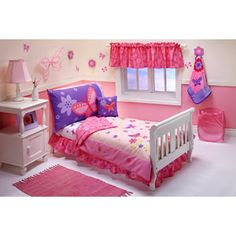 PURCHASED - Crown Crafts - Flowers & Butterflies 10-Piece Toddler Bedding Set