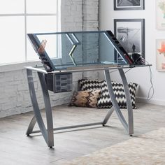 Studio Designs Futura Advanced Drafting Table with Side Shelf - The efficient artist will appreciate the Studio Designs Futura Advanced Drafting Table with Side Shelf. Constructed of durable heavy gauge steel, ...