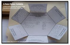 Six petal flower template for interactive notebooks Addie Education - Teacher Talk: Fun With Foldables