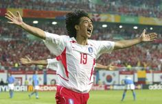 Date: Key Players: Ahn Jung Hwan, Korea Scoring a goal for your country in the World Cup is always a noteworthy achievement, but Ahn's famous tally in Korea/Japan 2002 was particularly grand Radios, History Of Soccer, Countries Of The World, 2000s, Fifa, World Cup, Athlete, Football, Goals