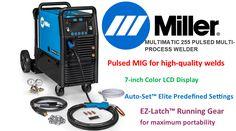 Millermatic 255 MIG Pulse MIG welder review Hobart Welder, Miller Welders, Wire Spool, Mig Welding, Metal Shop, Running Gear, Generators, Hand Tools, Evolution