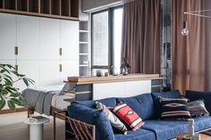 unique bookend Studio apartments are not renowned for spaciousness. Compact, convenient, and packed with tight corners, they rely on innovative tricks to make t