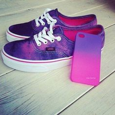 Love these purple vans. Also the matching iphone case