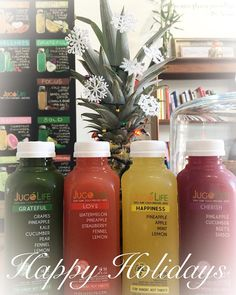 Happy Holidays! What's under your Christmas tree? This year give the gift of your body deserves. Pick up some gift cards or order a juice cleanse to help kick off the New Year! HOLIDAY HOURS:  Christmas Eve: Town 8am-1pm Kailua CLOSED Christmas Day: Town and Kailua CLOSED Please place cleanses orders in advance during the holiday season so we have enough to time to accommodate you