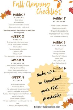14 Clever Deep Cleaning Tips & Tricks Every Clean Freak Needs To Know Fall Cleaning Checklist, Home Maintenance Checklist, Deep Cleaning Tips, House Cleaning Tips, Diy Cleaning Products, Spring Cleaning, Cleaning Hacks, Cleaning Schedules, Fall Checklist