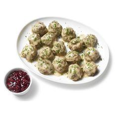 Almost-Famous Swedish Meatballs featuring polyvore food food and drink