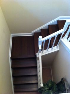 Hand Woven Bamboo Staircase treads and risers Dark Staircase, Stairs, Treads And Risers, French Pattern, Travertine, Hand Weaving, Bamboo, Home Decor, Stairway