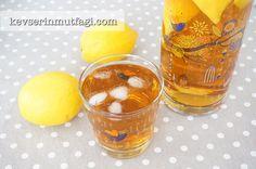 Limonlu Ice Tea Tarifi - Malzemeler : 2 adet limon, 1 su bardağı çay demi, 1/2 su bardağı şeker, 2 lt su.