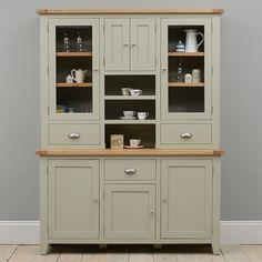 Caldecote French Grey Large Glazed Dresser FurnitureDining