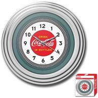 Bring the unique style of the world's most recognizable brand home with this incredible Coca-Cola clock. This retro clock features a style Coca-Cola design and the high gloss chrome molded case Chrome Wall Clock, Coca Cola Decor, Kitchen Wall Clocks, Vintage Cafe, Vintage Style, Retro Style, Vintage Items, Retro Clock, Billiards Pool