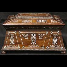 Antique English Tea Caddy/Jewelry Box