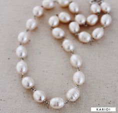 Baroque Pearl Necklace  White Baroque Pearls by karioi on Etsy, $330.00 http://etsy.com/shop/karioi