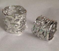 A set of handmade bespoke wedding rings, dare to be different. #bespoke #alternative #wedding #rings #handmade #unusual