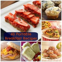 40 Breakfast On The Go Recipes This might be good for on the go breakfast. Life gets crazy with kids! lol